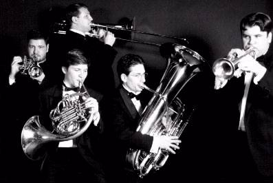 A photo of the Baltimore Brass Quintet