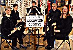 A photo of the Fair Oaks Woodwind Quintet
