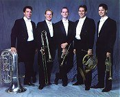 A photo of the Florida Brass Quintet